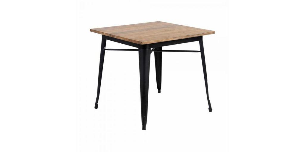 Fém vázas étkezőasztal, 80x80 cm, fa - ATELEIR